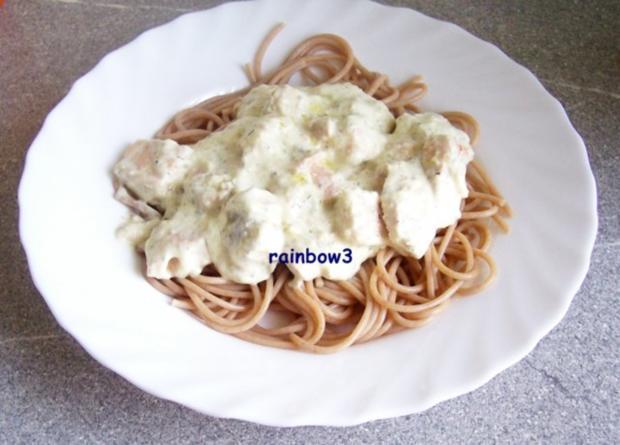 Kochen: Lachs in Käsesauce zu Spaghetti - Rezept - Bild Nr. 5