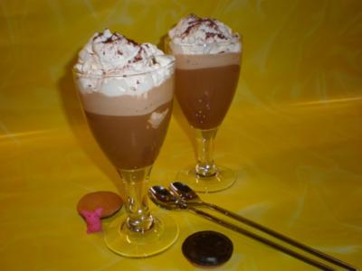 Schoko-Eiskaffee mit Sahnehaube - Rezept