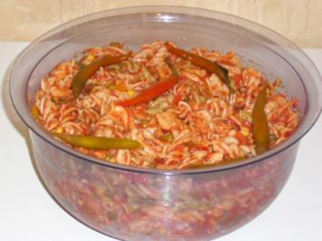 Tricolore Diavolo nudelsalat - Rezept