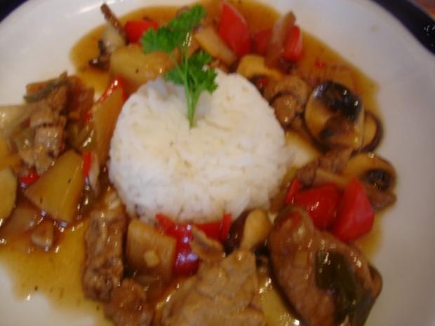 Schweinefilet im Wok mit Reis und Salat - Rezept - Bild Nr. 20