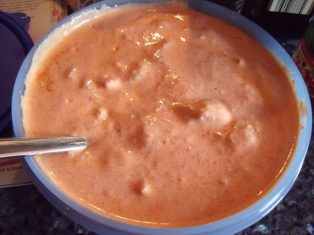 Chicken-Nuggets mit Paprika-Dip; Hühnchen- bzw. Fleischgericht - Rezept - Bild Nr. 3