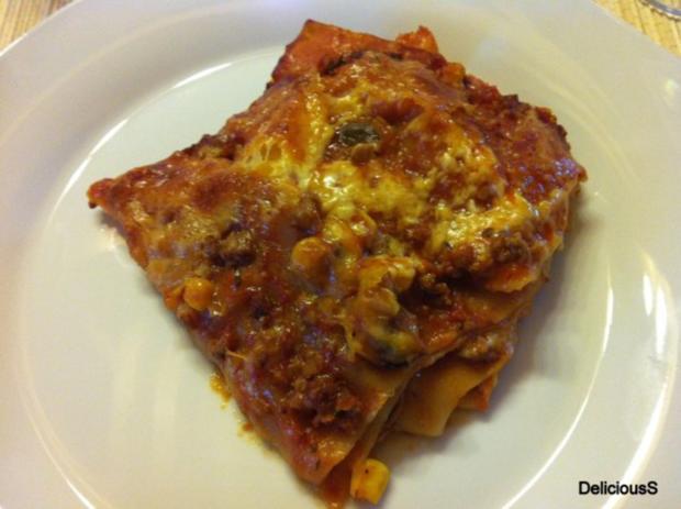 LASAGNE | Champignon - Mais - Zucchini - Lasagne - Rezept
