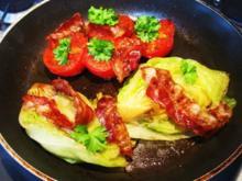 Tomaten mit Salat ... - Rezept