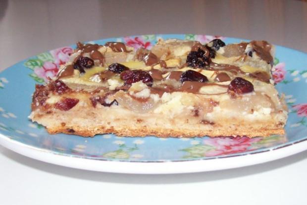Blechkuchen: Apfel-Birne-Cranberry mit Schmandguss - Rezept - Bild Nr. 10