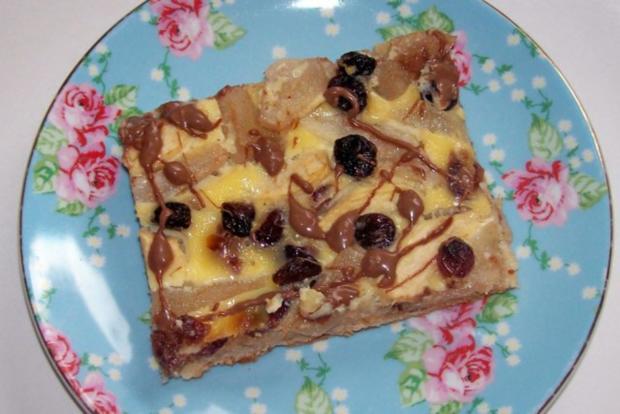 Blechkuchen: Apfel-Birne-Cranberry mit Schmandguss - Rezept - Bild Nr. 11