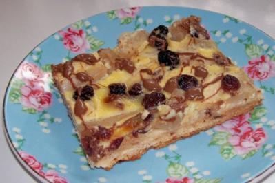 Blechkuchen: Apfel-Birne-Cranberry mit Schmandguss - Rezept