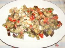 Auberginen mit Schafskäse - Rezept