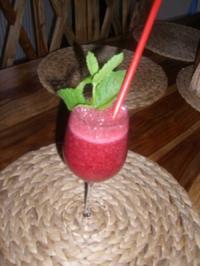 """""""Red River Shake"""" Himbeer Pfefferminz Shake , Sehr erfrischend und Super lecker fruchtig - Rezept"""
