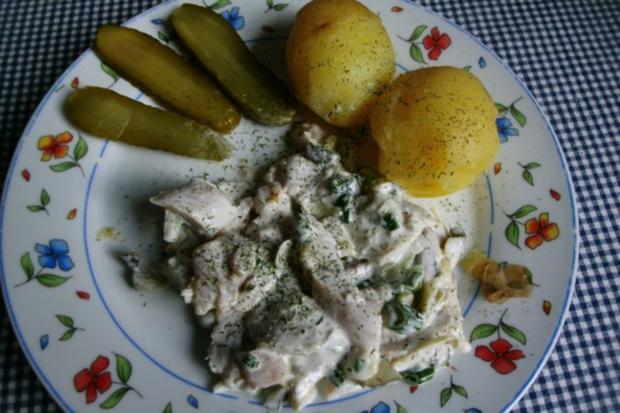Matjessalat mit Pellkartoffeln - Rezept - Bild Nr. 5
