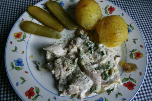 Matjessalat mit Pellkartoffeln - Rezept - Bild Nr. 6