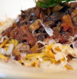Kalbsragout mit selbstgemachten Spaghetti - Rezept