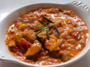 Beilagen: Cremig-scharfes Paprika-Zucchini-Gemüse - Rezept