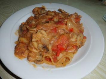 Eintopf: Champignos-Gemüsetopf mit Pute und Flusskrebsschwänzen - Rezept
