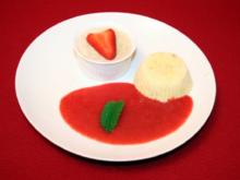 Rhabarber-Variationen mit Erdbeerspiegel - Rezept