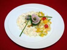 Herberts Heringsstipp mit frischen Früchten und Butter-Bratkartoffeln - Rezept