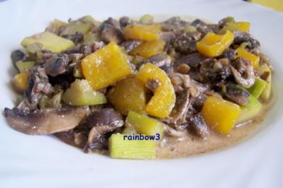 Kochen: Champignon-Pfanne und -Auflauf - Rezept