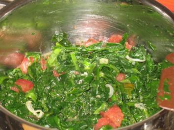 Rezept: Gemüse - Tomaten-Blattspinat mit Vanille