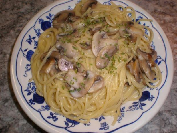 Spaghetti Mit Champignonsauce Rezept Mit Bild Kochbarde