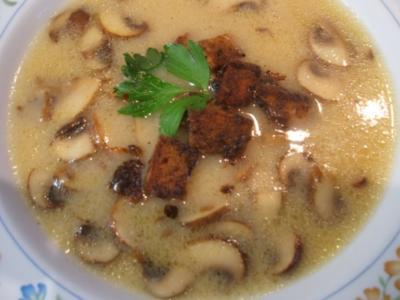 Suppen: Champignonsuppe - Rezept