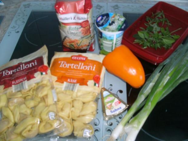 Tortellini mit roten Linsen - Rezept - Bild Nr. 2