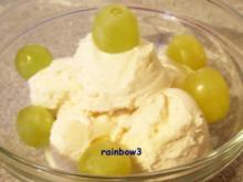 Dessert: Trauben-Sahne-Eis - Rezept