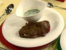 Roastbeef mit Füllung von Grillgemüse und Gorgonzola-Sauce à la Kleeberg - Rezept