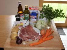 paniertes Schnitzel mit Kohlrabi-Möhren-Gemüse und Petersilien-Kartoffeln - Rezept