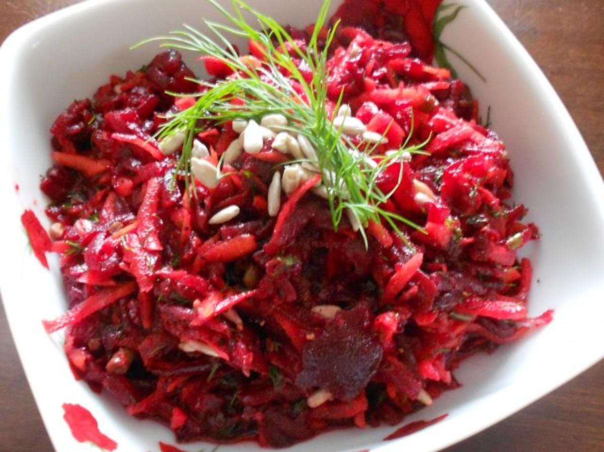rote beete karotten salat rezept mit bild. Black Bedroom Furniture Sets. Home Design Ideas