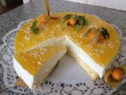 Käsesahne-Torte mit Maracuja - Rezept