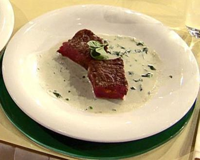 Roastbeef mit Füllung von Grillgemüse und Gorgonzola-Sauce (Ralf Möller) - Rezept