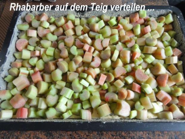 Rührteig:   RHABARBER - STREUSEL - KUCHEN - Rezept - Bild Nr. 4