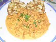 Eierschwammerlgulasch (Pfifferlinge) und Semmelknödel - Rezept