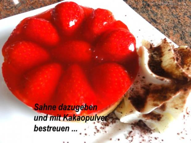 Dessert:   ERDBEER - RHABARBER - TÖRTCHEN - Rezept - Bild Nr. 2