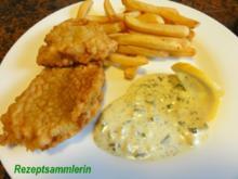 Fisch:   SEELACHSFILET in Bierteig gebacken - Rezept