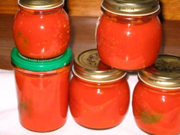 Tomatensoße auf Vorrat - Rezept