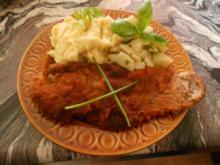 Schweineschnitzel mit Kartoffelpüree an Kohlrabi Buttergemüse - Rezept