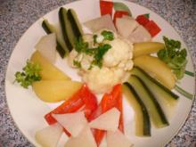 Gemüseplatte mit Zitronensoße - Rezept