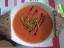 Paprika-Tomaten-Suppe - Rezept
