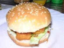Fischstäbchen-Burger - Rezept