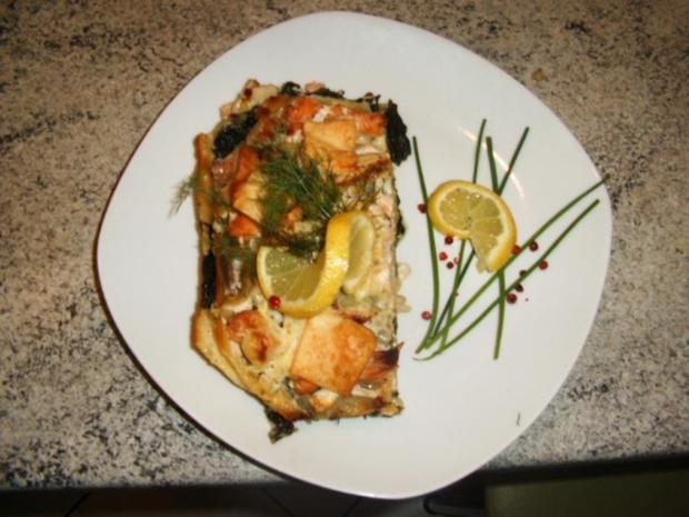 Lachs Spinat Lasagne Rezept Mit Bild Kochbarde