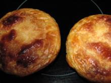 Weckglas-Quarkkuchen mit Blätterteighaube - Rezept