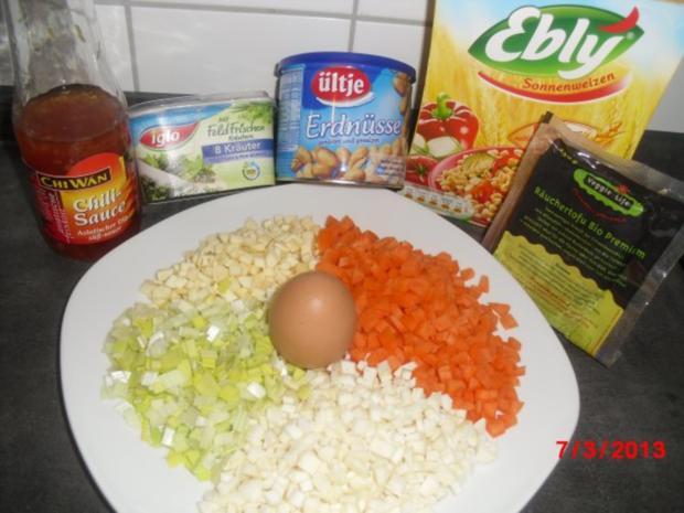 Muffin -- Tofu-Gemüse-Buchweizen mit Chili-Erdnuss-Sosse - Rezept - Bild Nr. 3
