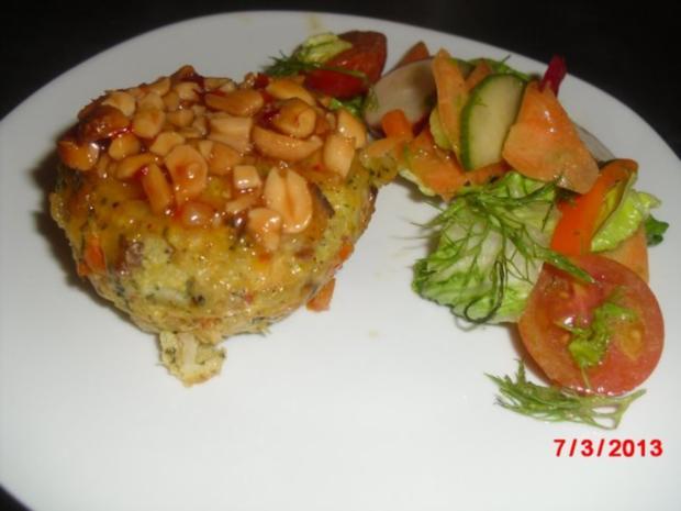 Muffin -- Tofu-Gemüse-Buchweizen mit Chili-Erdnuss-Sosse - Rezept - Bild Nr. 2