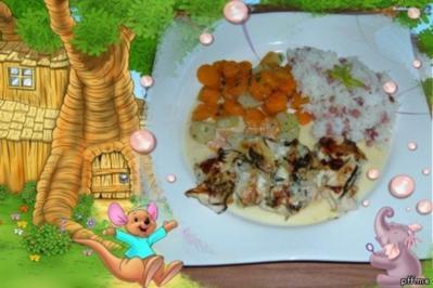 Gflügel : Hähnchenfilets mit Zwiebeln und Kräutern - Rezept