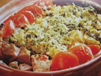 Rezept: Wirsing-Kartoffelauflauf mit Fleisch