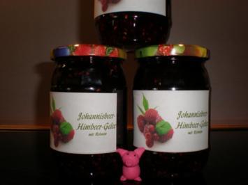 Johannisbeer-Himbeer-Gelee mit Rotwein - Rezept