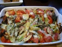 Gratiniertes Fenchel Tomaten Gemüse - Rezept