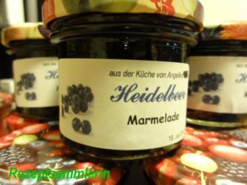 M+G:   HEIDELBEERMARMELADE - Rezept