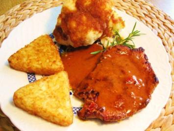 Paprika-Steak mit feinem Rahmsößchen ... - Rezept