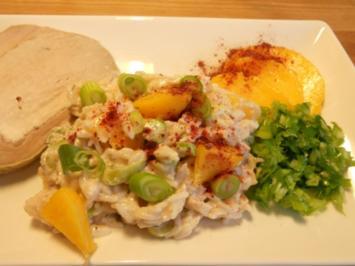 Reissalat mit lila Curry - Rezept
